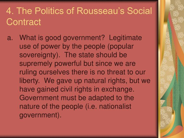 4. The Politics of Rousseau's Social Contract