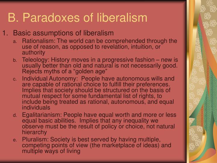 B. Paradoxes of liberalism