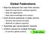 global federations