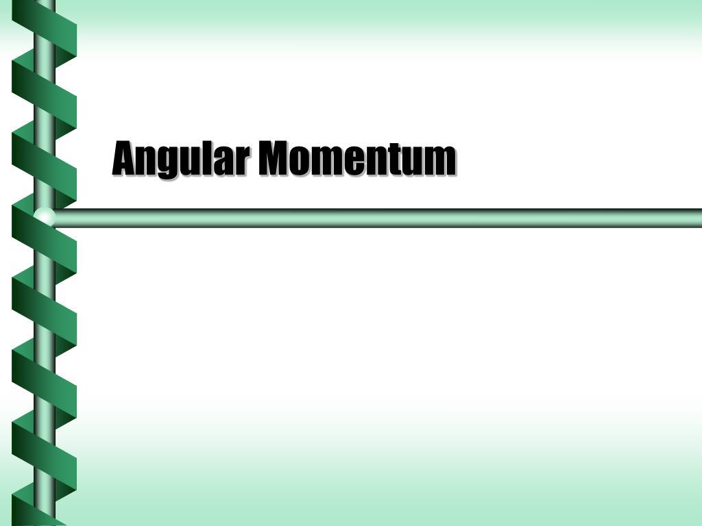 angular momentum l.