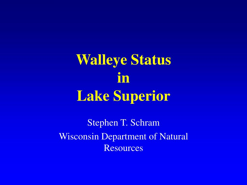 walleye status in lake superior l.