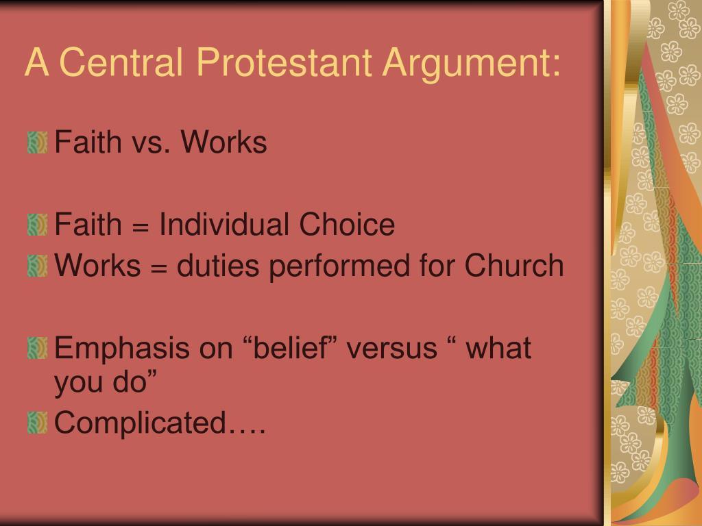 A Central Protestant Argument: