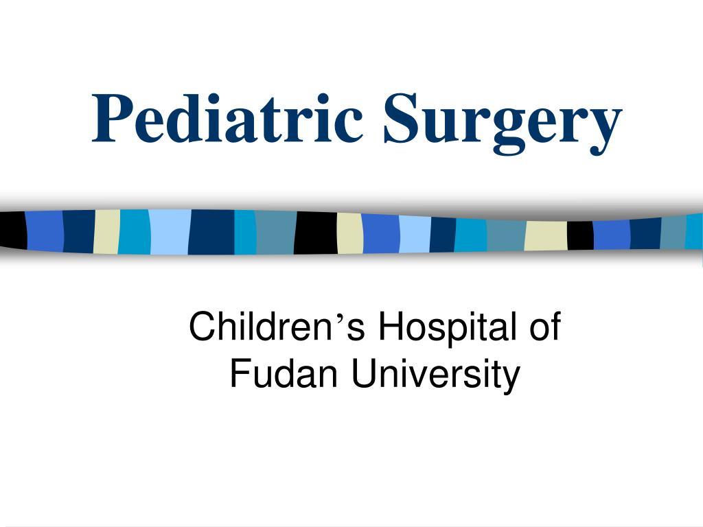 pediatric surgery l.