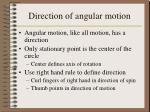 direction of angular motion