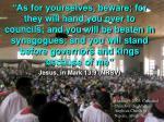 jesus in mark 13 9 nrsv