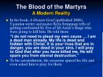 the blood of the martyrs a modern reality15