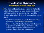 the joshua syndrome afrikaaner covenant theology