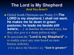 the lord is my shepherd and you aren t44