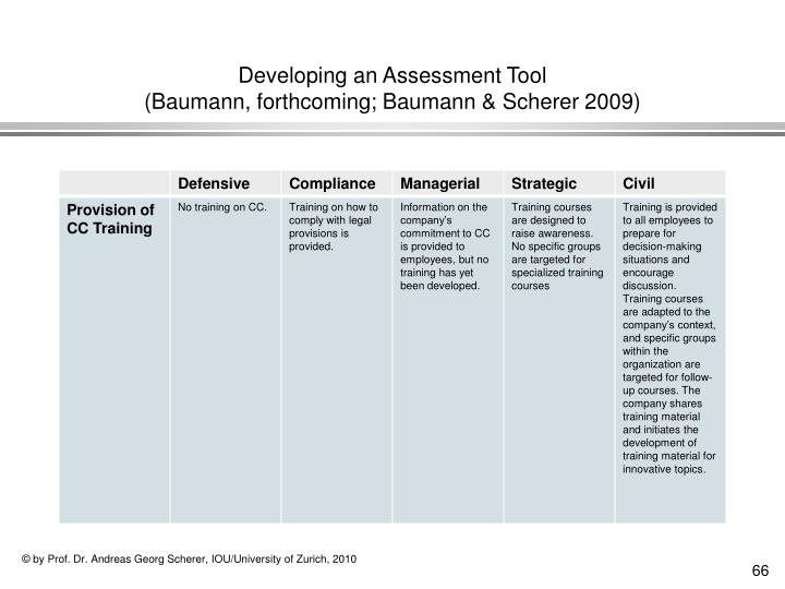 Developing an Assessment Tool