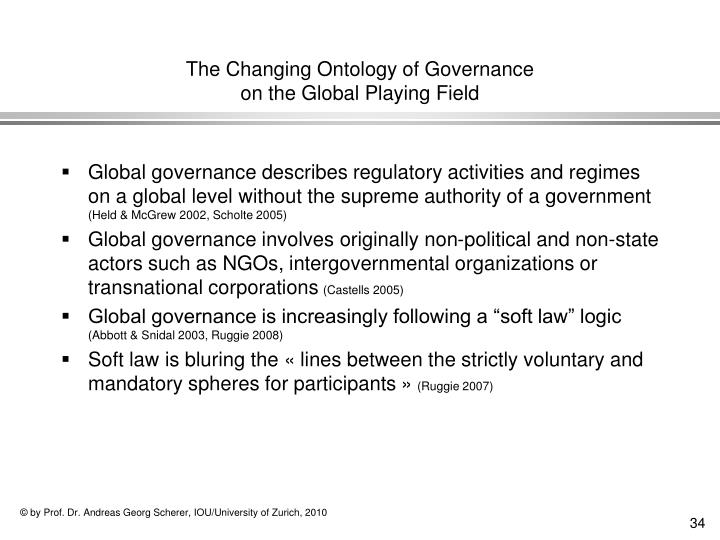 The Changing Ontology of Governance