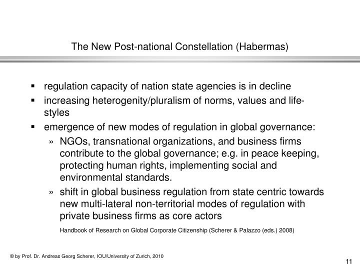 The New Post-national Constellation (Habermas)