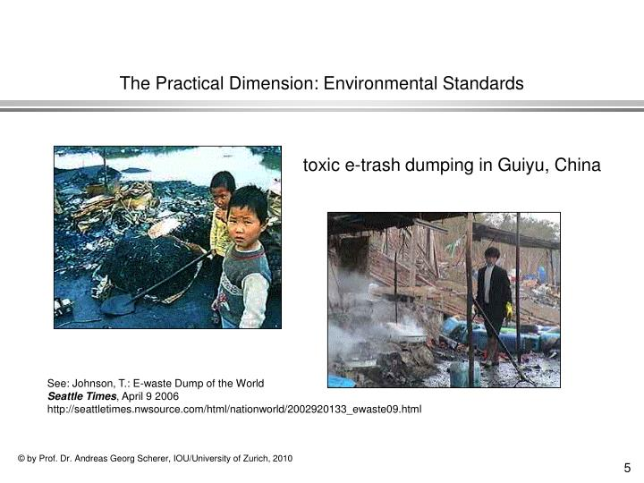 The Practical Dimension: Environmental Standards