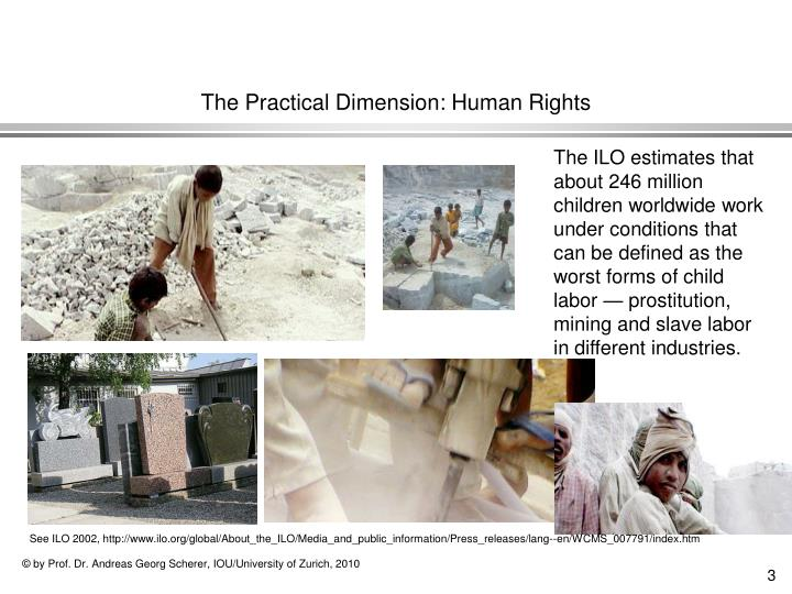The practical dimension human rights