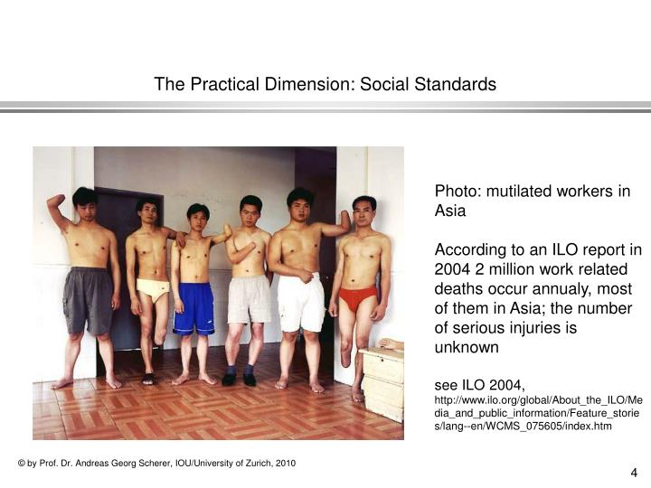The Practical Dimension: Social Standards