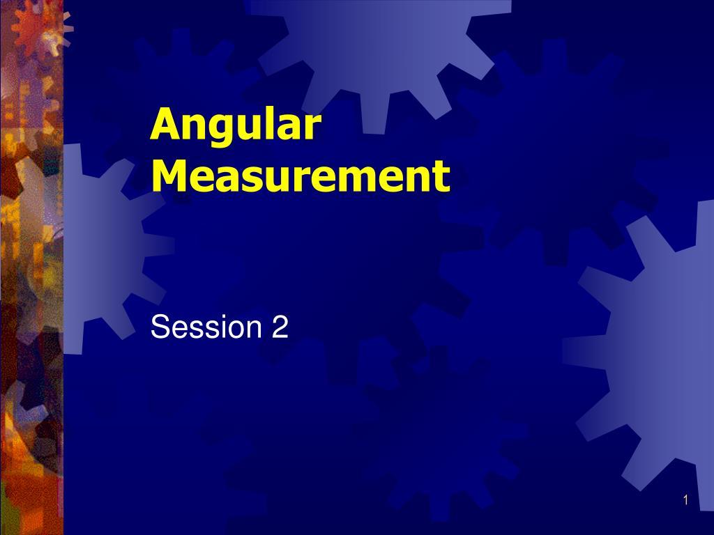 angular measurement l.