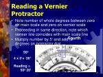 reading a vernier protractor