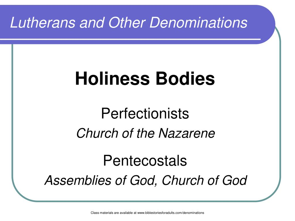 lutherans and other denominations l.