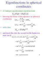 eigenfunctions in spherical coordinates