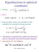 eigenfunctions in spherical coordinates22