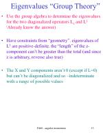 eigenvalues group theory