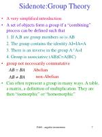 sidenote group theory