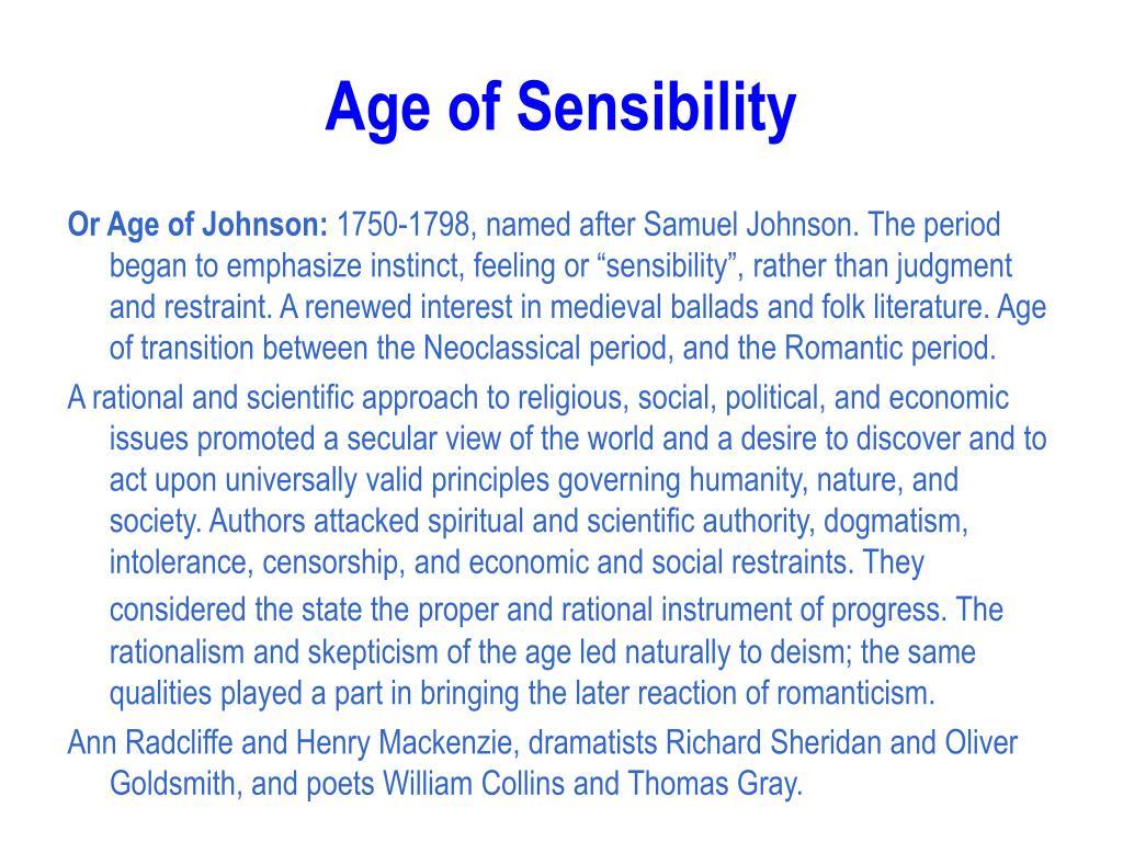Age of Sensibility