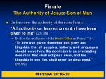 finale the authority of jesus son of man