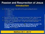 passion and resurrection of jesus introduction