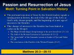 passion and resurrection of jesus motif turning point in salvation history24