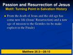 passion and resurrection of jesus motif turning point in salvation history26