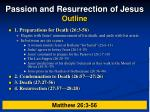 passion and resurrection of jesus outline