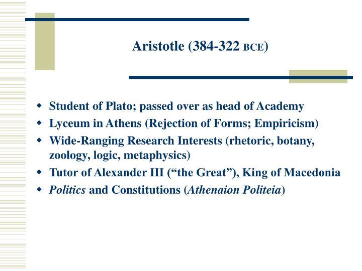 Aristotle (384-322