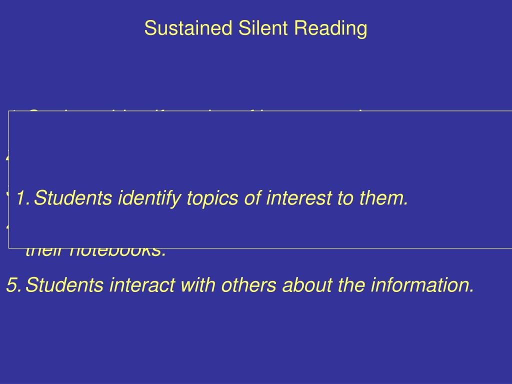 Sustained Silent Reading