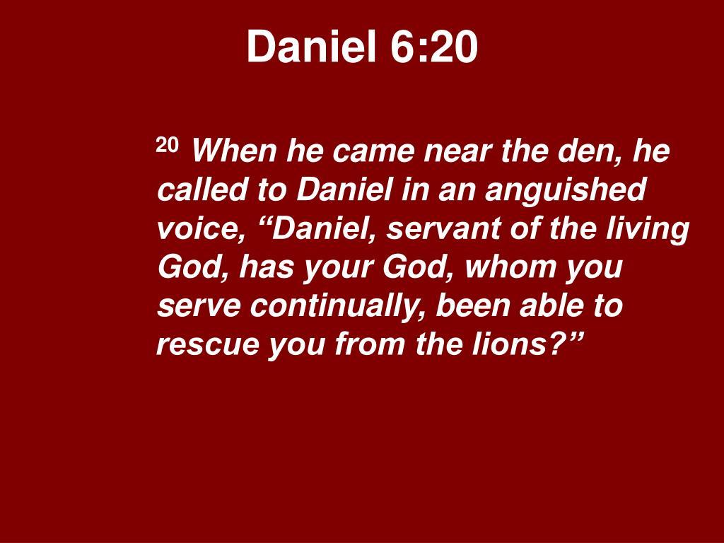 Daniel 6:20