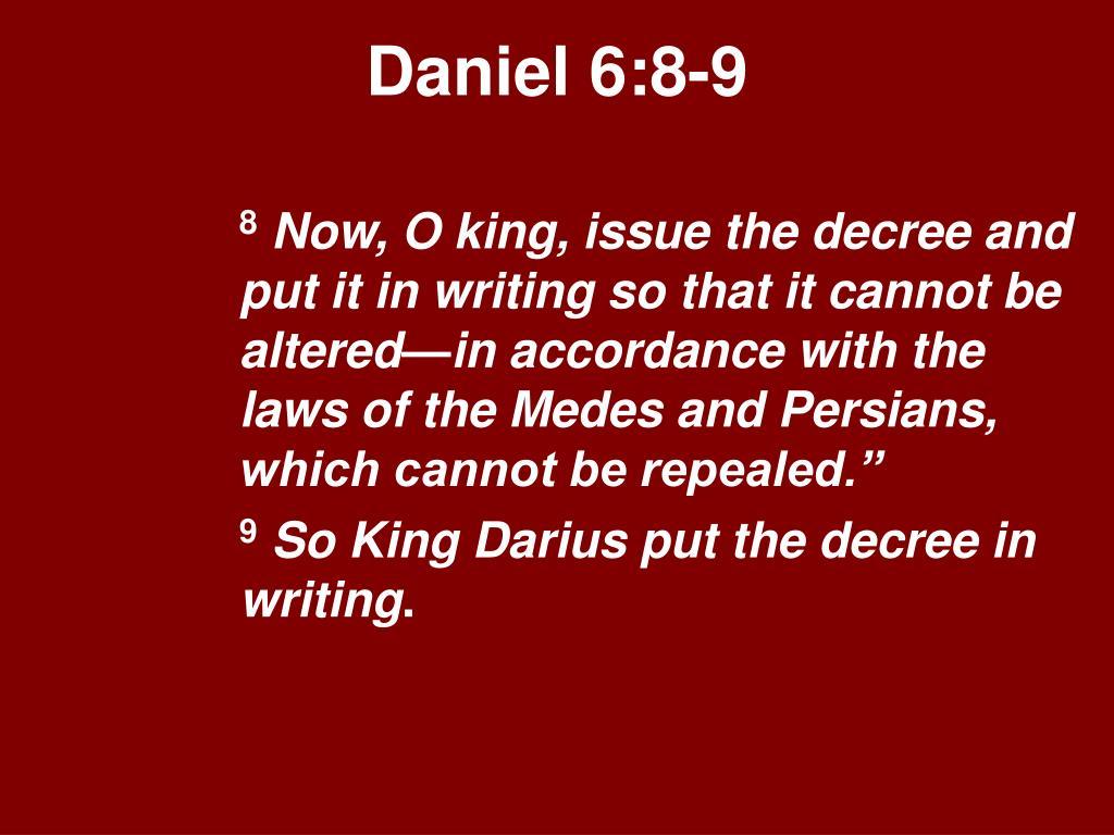 Daniel 6:8-9