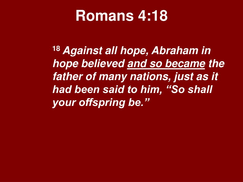Romans 4:18