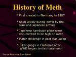 history of meth