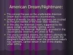american dream nightmare