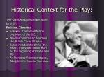 historical context for the play