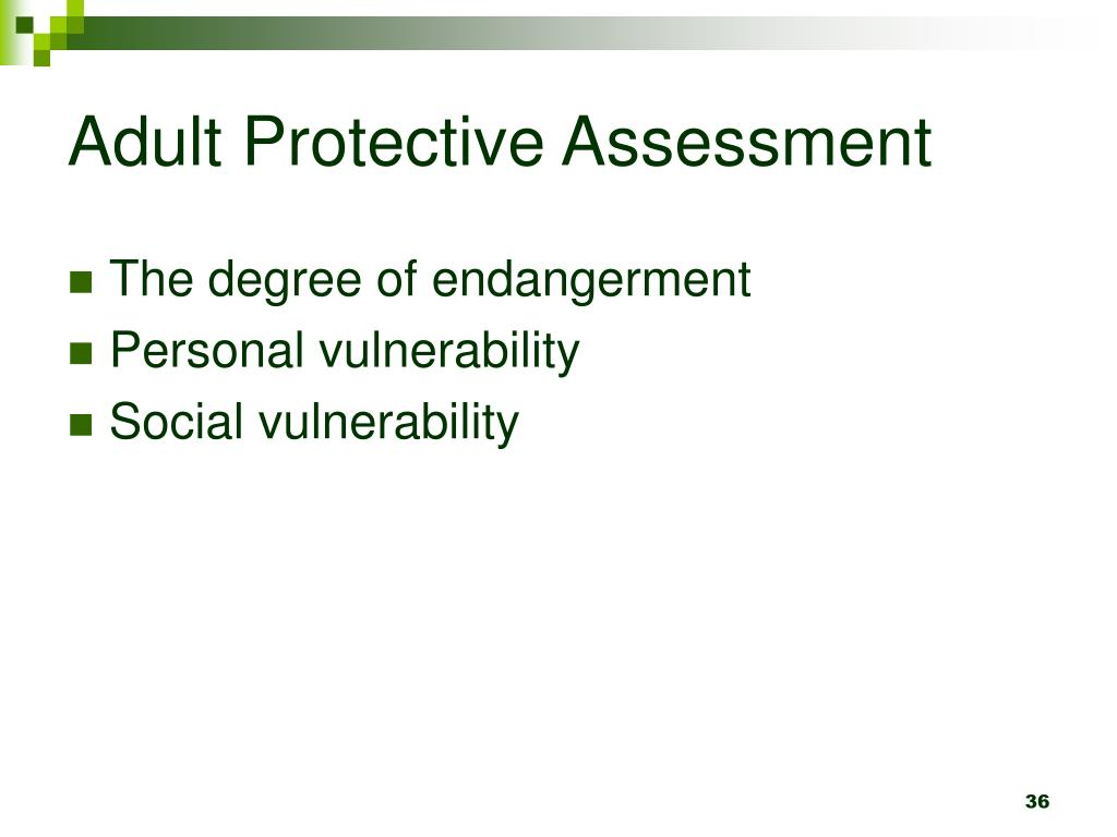 Adult Protective Assessment