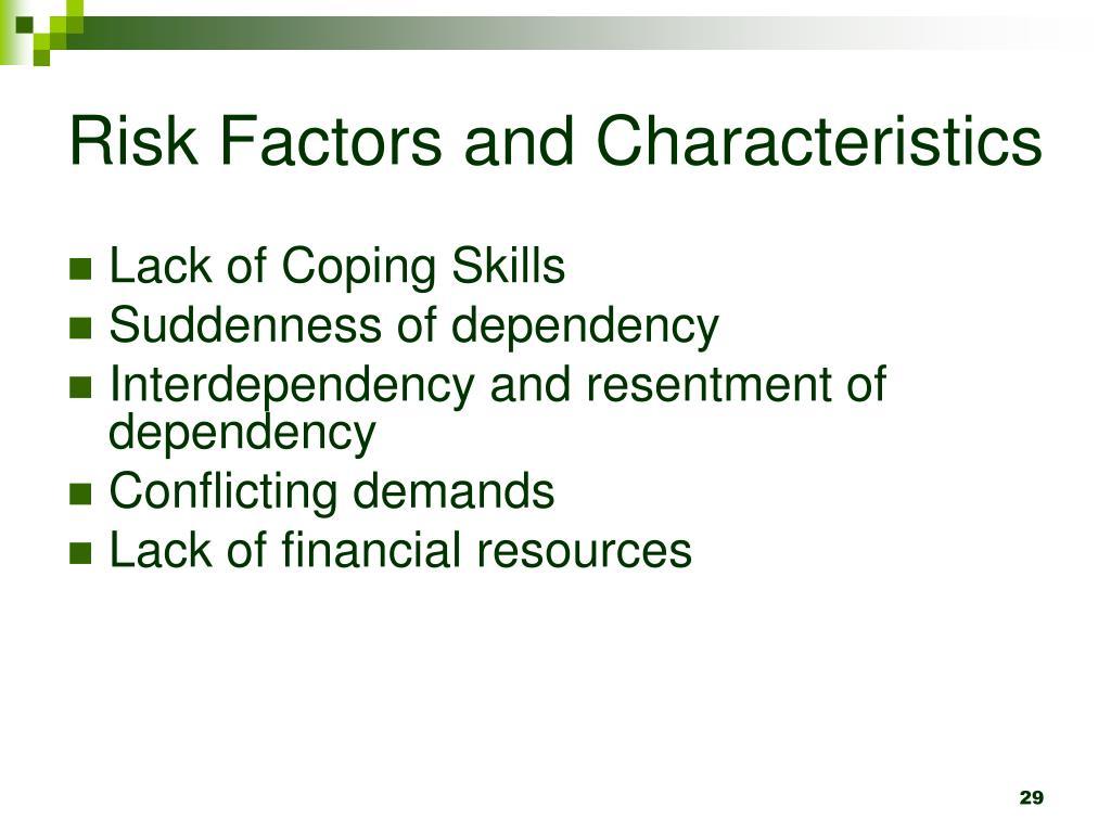 Risk Factors and Characteristics