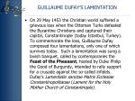 guillaume dufay s lamentation
