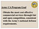 army ca program goal