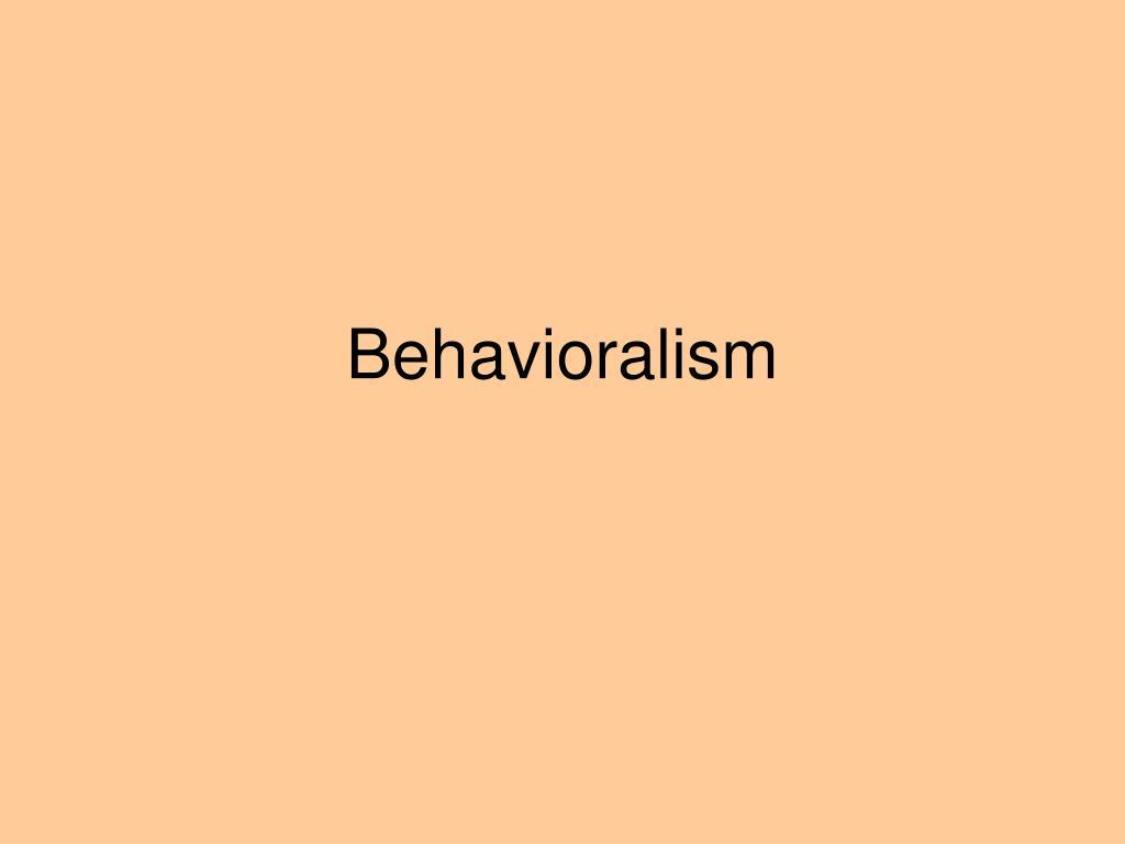 behavioralism l.