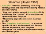 dilemmas hardin 1968