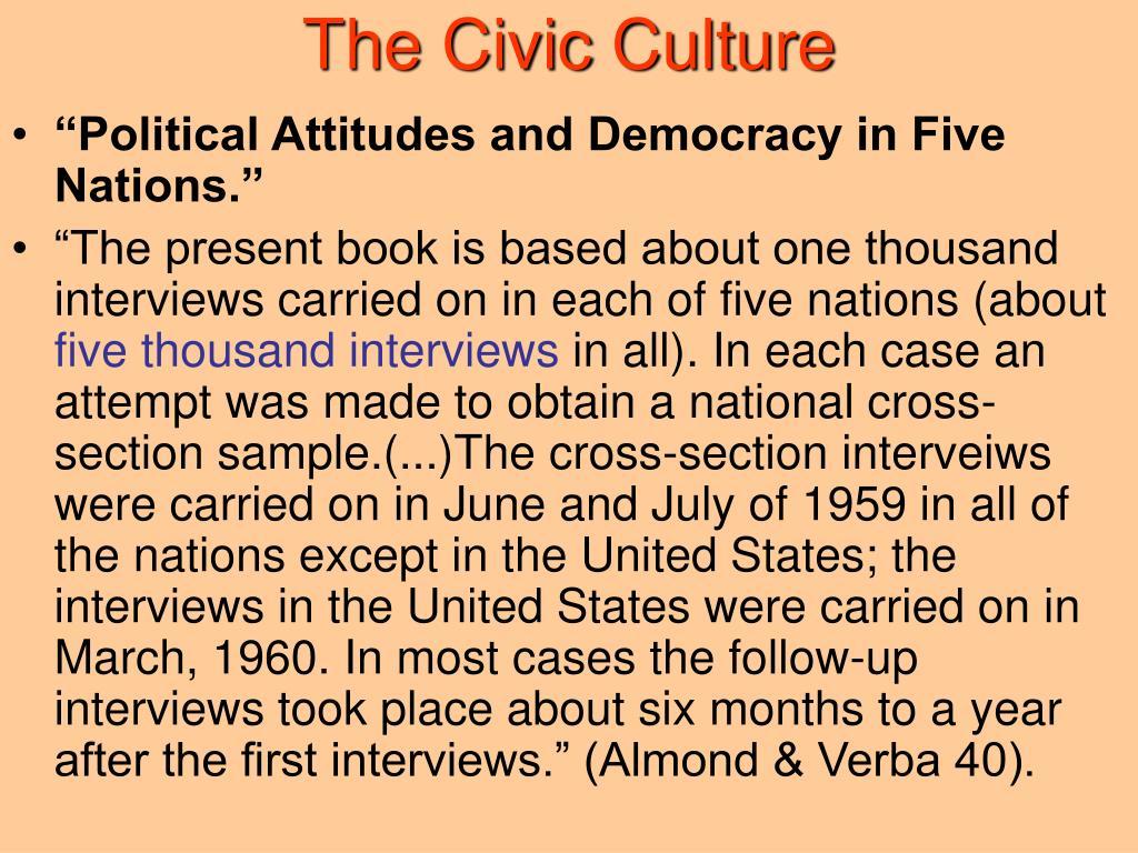 political culture and civic culture