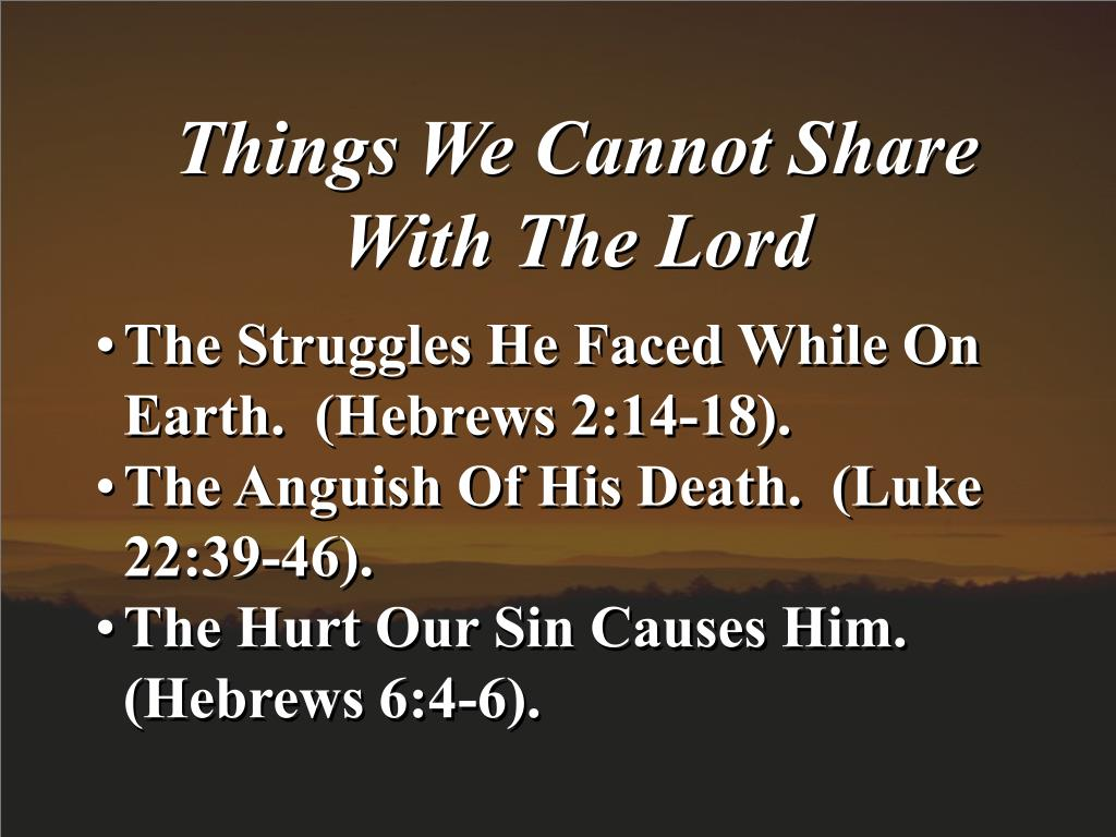 Things We Cannot Share
