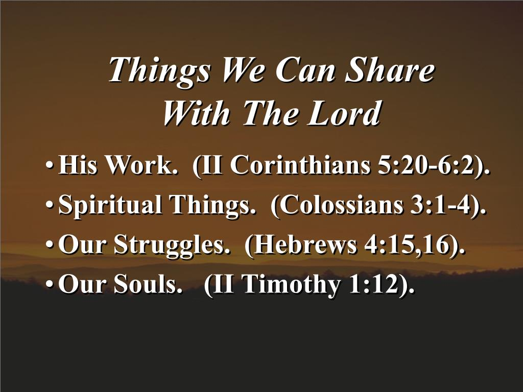 Things We Can Share