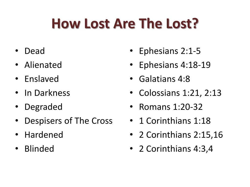How Lost Are The Lost?