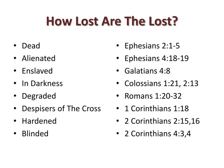 How lost are the lost